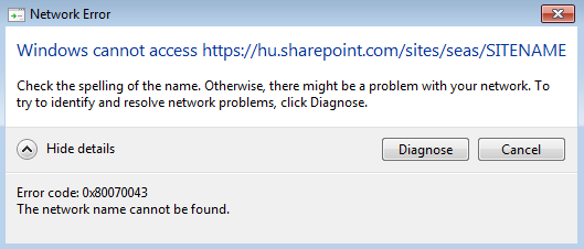 How to map a drive to SharePoint online - SEAS User