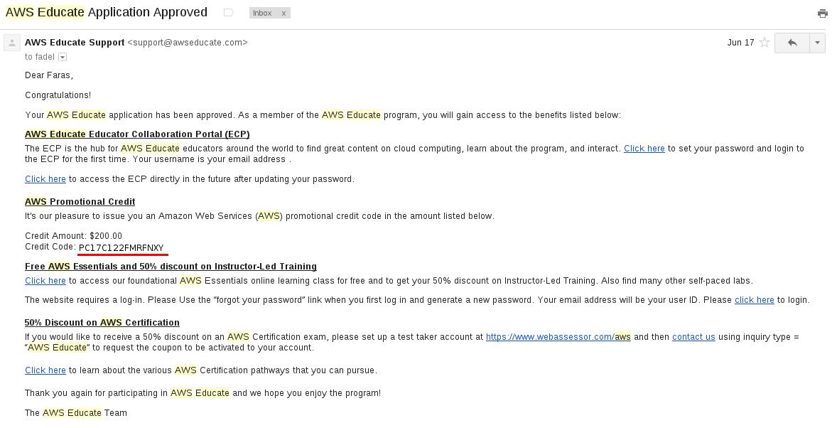 AWS Educate - SEAS User Documentation - Harvard Wiki