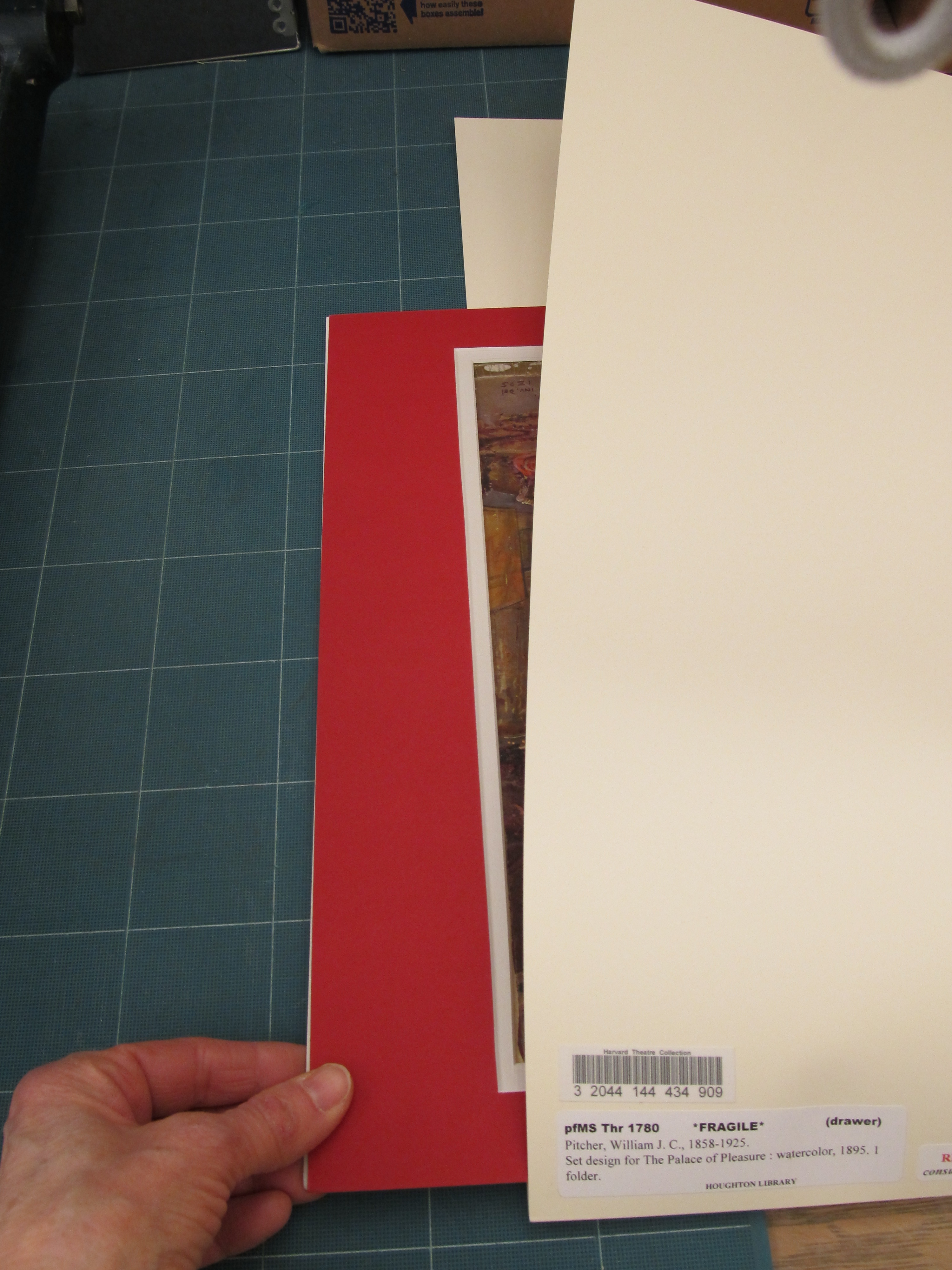 Manuscript End Processing Manual Houghton Technical Services How To Make An Easy Origami Sword Page 7 Apps Directories Inside A Half Drawer Pfd The 20 X 24 Folders Are Oriented Side By With Label Open Facing Front Of As Below Sometimes